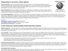 Responding to Terrorism: Policy Options Lesson Plan