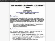 Restaurants and Food Lesson Plan