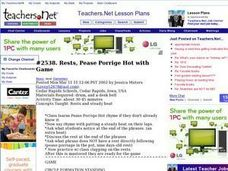 Rests, Pease Porrige Hot with Game:Music, Rhythm, Beats Lesson Plan