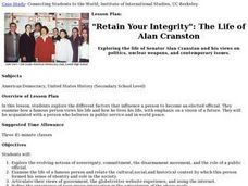 "Retain Your Integrity"": The Life of Alan Cranston Lesson Plan"