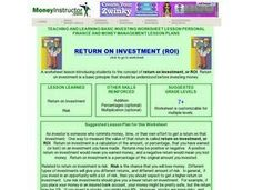 Return On Investment Lesson Plan