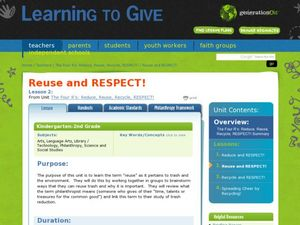 Reuse and Respect! Lesson Plan