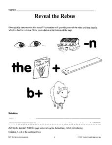Reveal the Rebus Worksheet