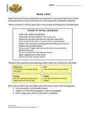 Review A Book Lesson Plan