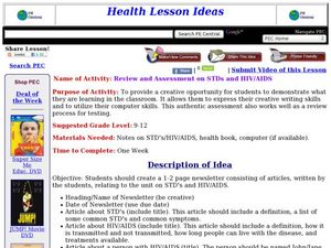 Review and Assessment on STDs and HIV/AIDS Lesson Plan