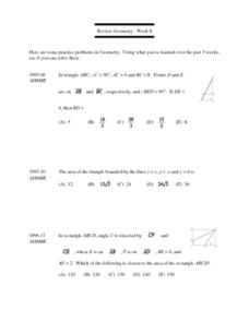 Review Geometry - Week 8: (Triangles) Lesson Plan