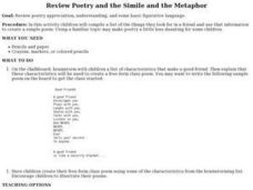 Review Poetry and the Simile and the Metaphor Lesson Plan