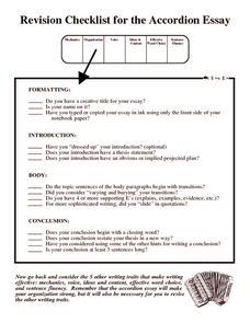 essay revision worksheet
