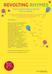 Revolting Rhymes Worksheet