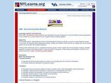 Revolutionary News Network Lesson Plan