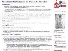Revolutionary Tea Parties and the Reasons for Revolution Lesson Plan