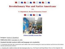 Revolutionary War and Native Americans Lesson Plan