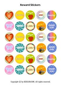 Reward Stickers Lesson Plan