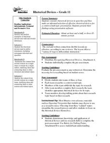 Rhetorical Devices Lesson Plan