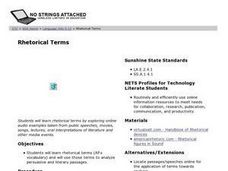 Rhetorical Terms Lesson Plan