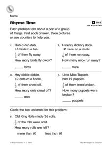 Rhyme Time- Parts of a Group- Reasoning Worksheet Worksheet