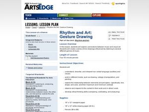 Rhythm and Art: Gesture Drawing Worksheet