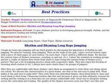 Rhythm and Rhyming Long Rope Jumping Lesson Plan