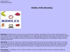 Riddles with Blending Lesson Plan