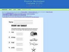 Right on Target- Phonics Worksheet R-controlled Vowels Worksheet