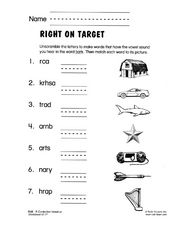 Right on Target Worksheet