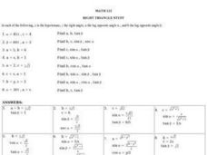 Right Triangle Stuff Worksheet