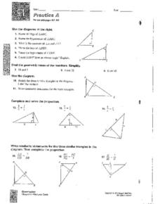 Right Triangles and Proportions Worksheet