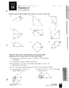 Right Triangles Worksheet