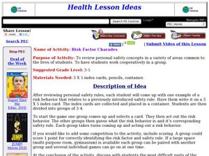 Risk Factor Charades Lesson Plan