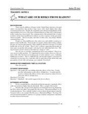 Risks From Radon Lesson Plan