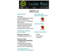 Robot Gears Lesson Plan