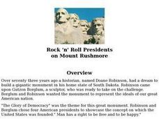 Rock 'N Roll Mount Rushmore Lesson Plan