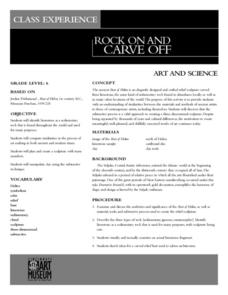 Rock On And Carve Off Lesson Plan
