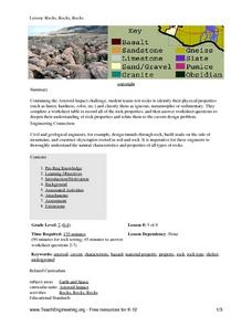 Rocks, Rocks, Rocks! Lesson Plan