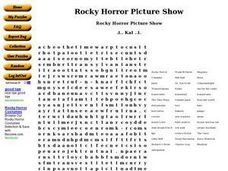 Rocky Horror Picture Show Worksheet