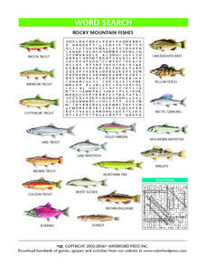 Rocky Mountain Fishes Lesson Plan