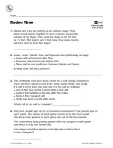 Rodeo Time Worksheet