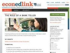 Role of a Bank Teller Lesson Plan