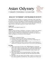 "Role of ""Outsiders"" And Traders in Society Lesson Plan"