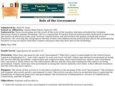Role of the Government Lesson Plan