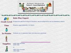 Role Play Expert Lesson Plan