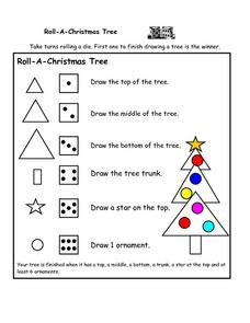 Roll-A-Christmas Tree Worksheet