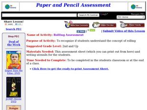 Rolling Assessment Lesson Plan