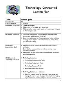 Roman gods Lesson Plan