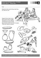 Roman Meal Worksheet