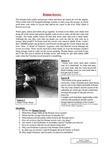 Roman Sewers Worksheet