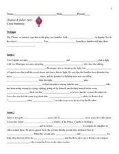 romeo and juliet act i cloze summary 9th grade worksheet lesson planet. Black Bedroom Furniture Sets. Home Design Ideas