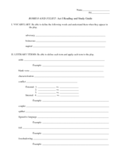romeo and juliet act ii lesson plans worksheets. Black Bedroom Furniture Sets. Home Design Ideas