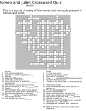romeo and juliet crossword puzzle 9th 12th grade worksheet lesson planet. Black Bedroom Furniture Sets. Home Design Ideas