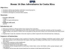Room 16 Bus Adventures in Costa Rica Lesson Plan